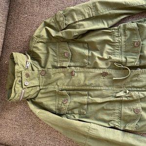 JCrew olive green military coat